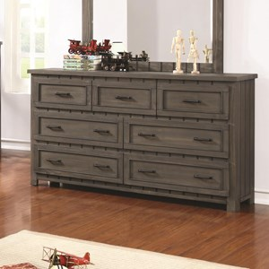 Transitional Dresser with Paneled Design