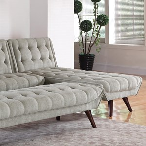 Mid-Century Modern Convertible Chaise