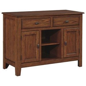 Transitional Two Door Dining Server