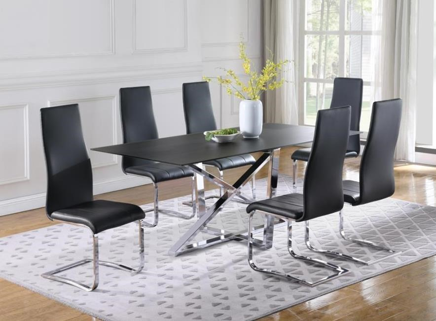 Neveen 7-Piece Table and Chair Set by Coaster at Beck's Furniture