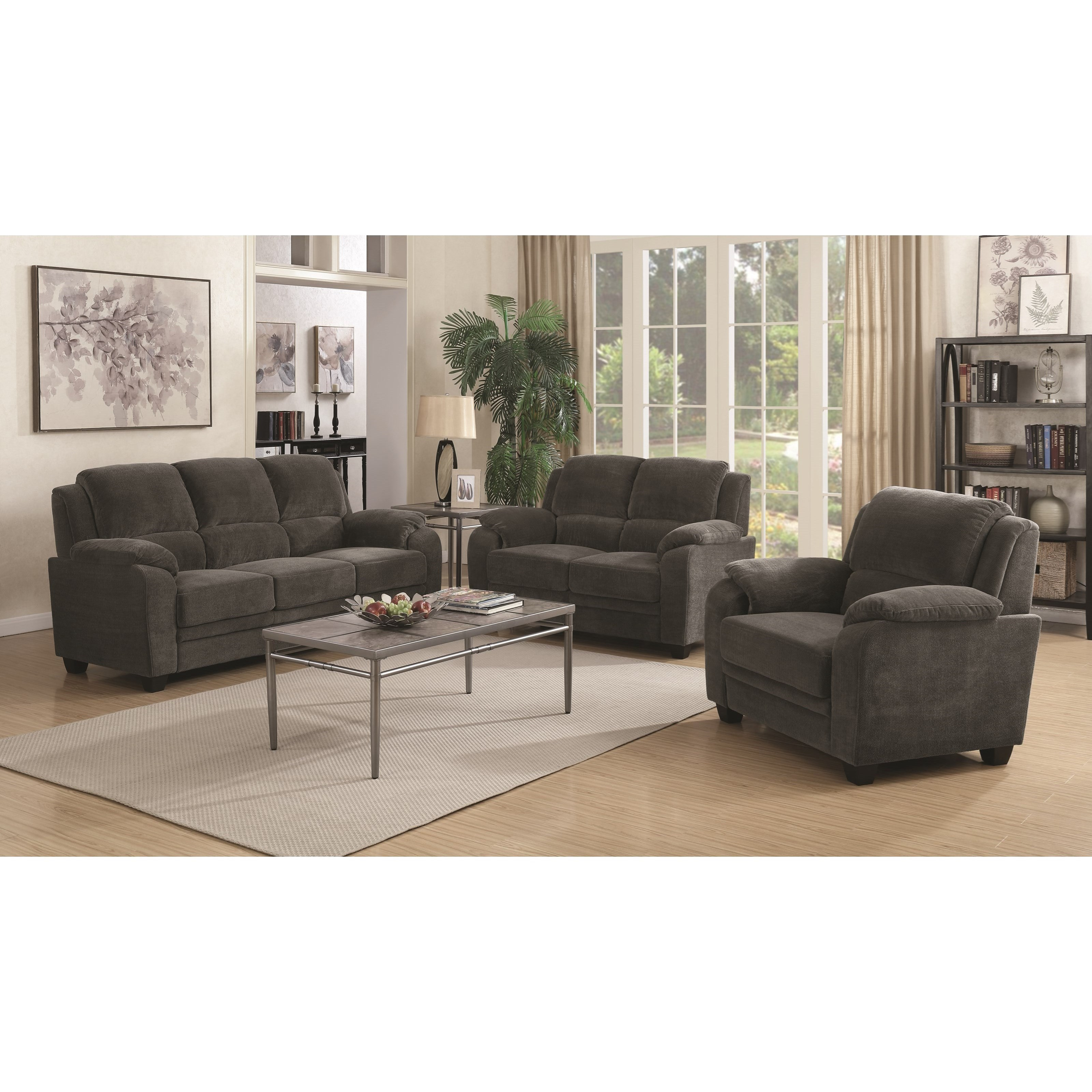 Northend Stationary Living Room Group by Coaster at Northeast Factory Direct
