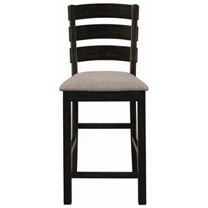 Solid Wood Counter Height Chair with Ladder Back