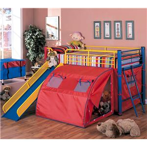 Coaster Oates Bunk Bed with Slide and Tent