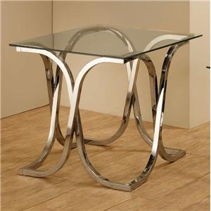 End Table with Tempered Glass Top