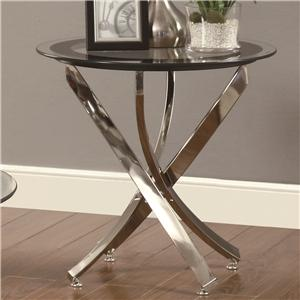 End Table w/ Tempered Glass Top