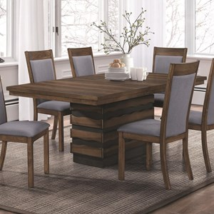Dining Table with Hidden Storage in Base
