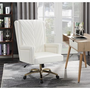 Glam Office Chair with Casters