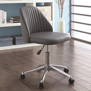 Modern Office Chair with Channeled Backrest