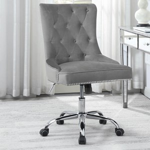 Office Chair with Tufted Back and Casters