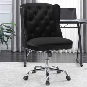Wingback Office Chair with Tufted Back