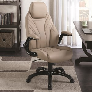 Tan Leatherette Office Chair