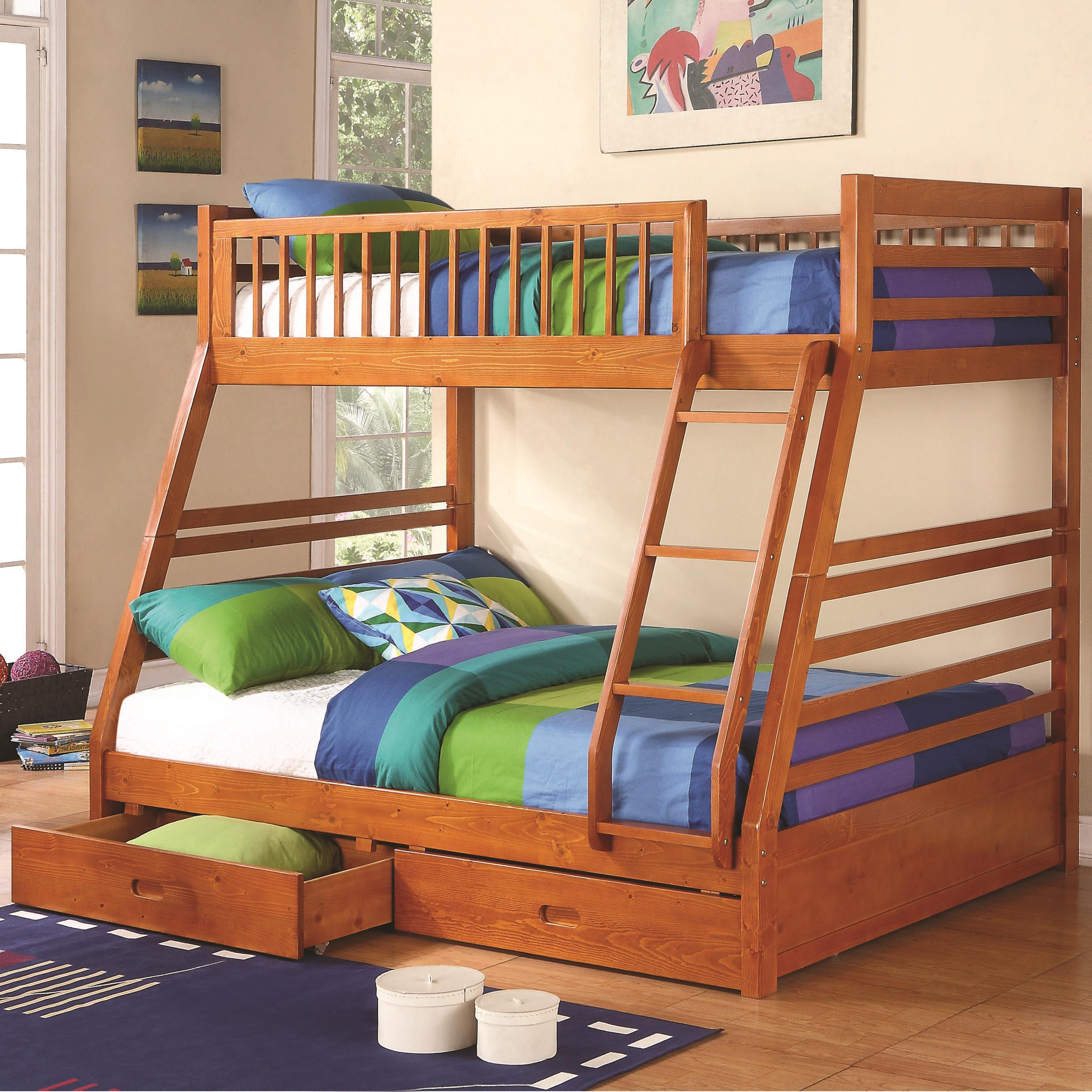 Ogletown Twin Over Full Bunk Bed by Coaster at Northeast Factory Direct
