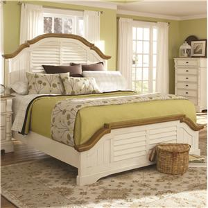 King Panel Bed with Shutter Detail