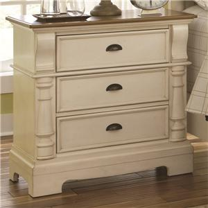 Night Stand with 3 Drawers and Bracket Feet