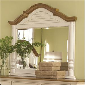 Mirror with Arched Frame and Shutter Detail