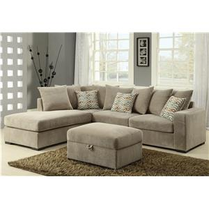 Contemporary Reversible Sectional with Chaise