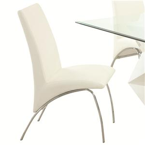 Contemporary Leatherette and Metal Dining Chair