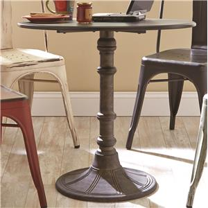 Round Industrial Bistro Table