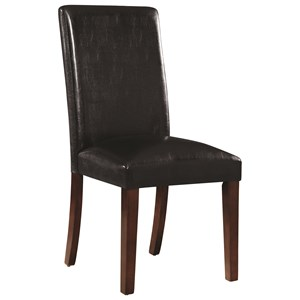 Transitional Dining Chair with Leatherette Upholstery