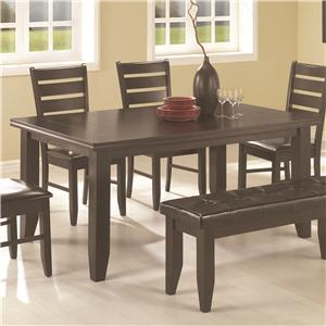 Contemporary Rectangular Semi-Formal Dining Table