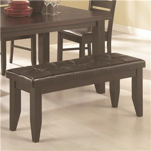 Contemporary Dining Bench with Tufted Upholstered Seat
