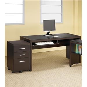Home Office Desk and File Cabinet