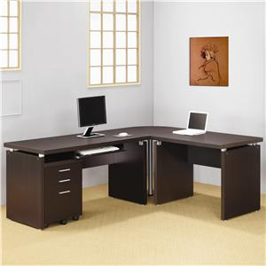 Contemporary L Shaped Computer Desk