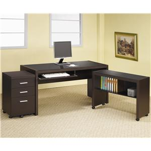 L Shape Computer Desk with Storage