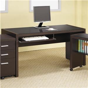 Computer Desk with Keyboard Drawer