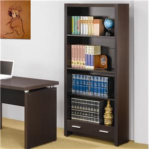 4 Shelf Bookcase with Storage Drawer