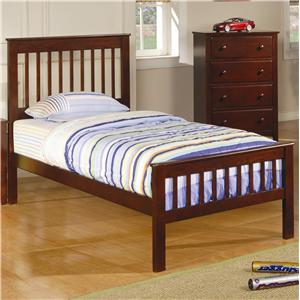 Twin Slat Headboard & Footboard Bed