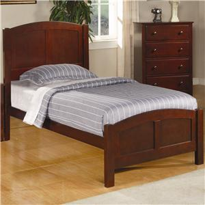Casual Twin Panel Bed