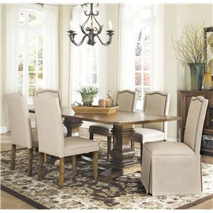 Coaster Parkins 7 Piece Dining Table and Chair Set