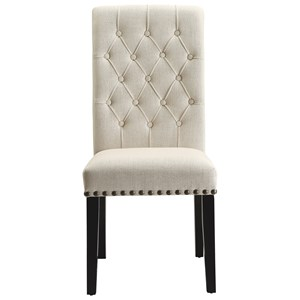 Upholstered Dining Side Chair with Button Tufting