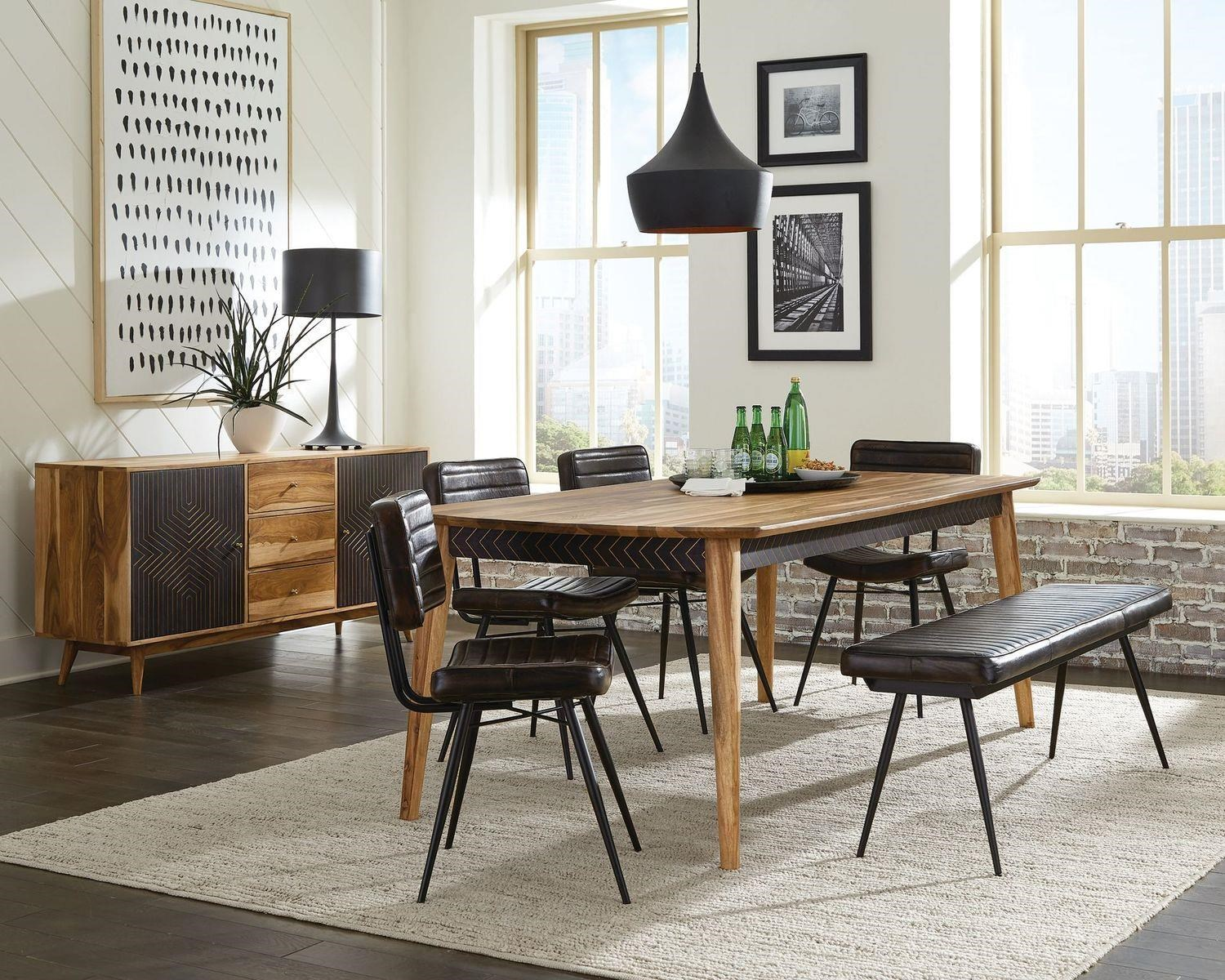 Partridge 6-PIECE DINING AND CHAIR SET W/ BENCH by Coaster at Beck's Furniture