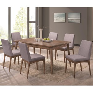 Seven Piece Table and Chair Set