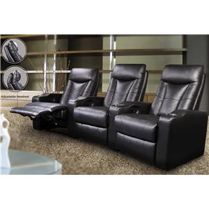 Contemporary Leather Theater Seating