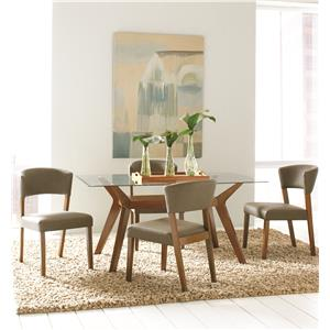 5 Piece Rectangular Dining Table Set with Side Chairs