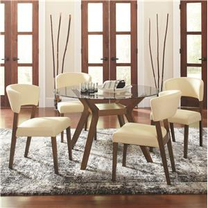 5 Piece Round Dining Table Set with Side Chairs
