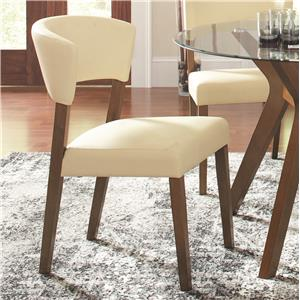 Cream Upholstered Dining Chair