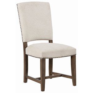 Transitional Side Chair with Nailhead Trim