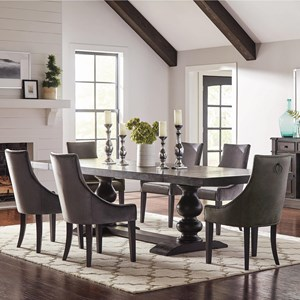 Transitional 7 Pc Dining Set