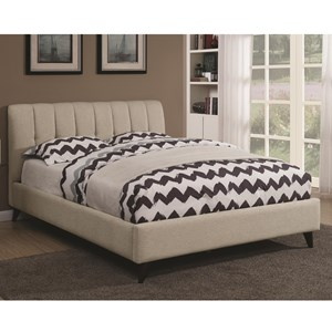Mid Century Modern Upholstered Twin Bed