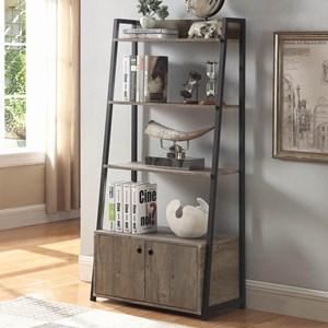 Contemporary Bookcase with Metal Frame