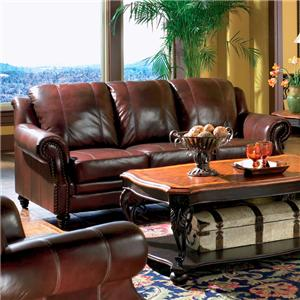 Rolled Arm Leather Sofa