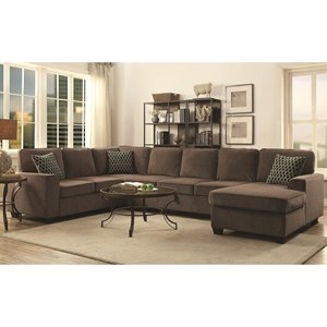 Sectional with Chaise and Built-in Storage