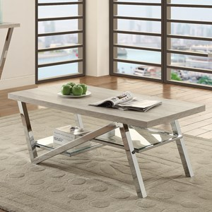 Contemporary Coffee Table with Chrome Legs
