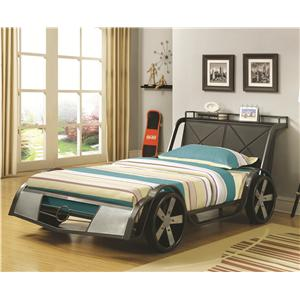 Coaster Novelty Beds Race Car Twin Bed