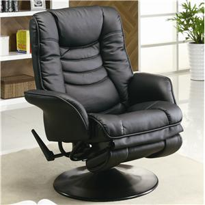 Casual Leatherette Swivel Recliner