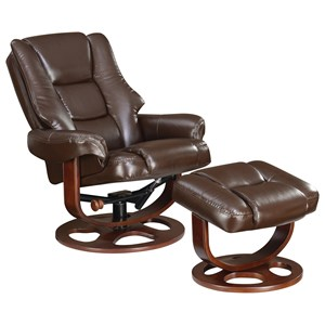 Plush Recliner and Ottoman